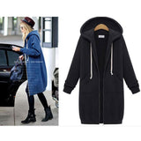 New Hooded Long-sleeved Sweater Coat Long Coat Thicker Coat Pullover For Big Sale!- Fowish.com