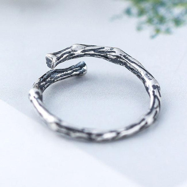 Vintage Silver Women Rings Retro Branch Open Ring For Big Sale!- Fowish.com