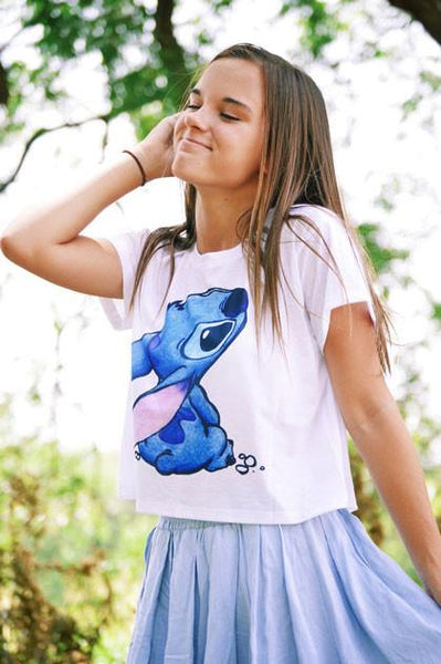 Cartoon Animals Printing T-shirt Top - lilyby