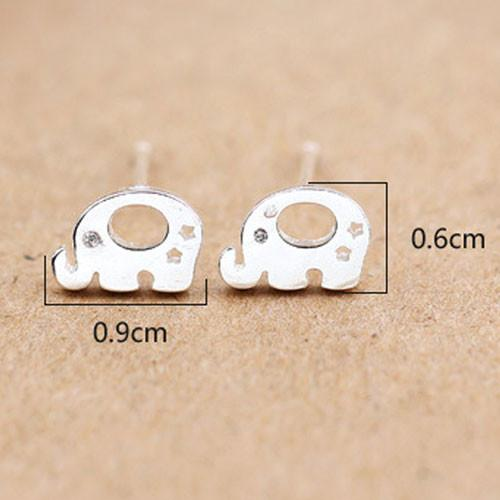 Sweet Animal Earring Studs Women Silver Elephant Earrings Studs For Big Sale!- Fowish.com
