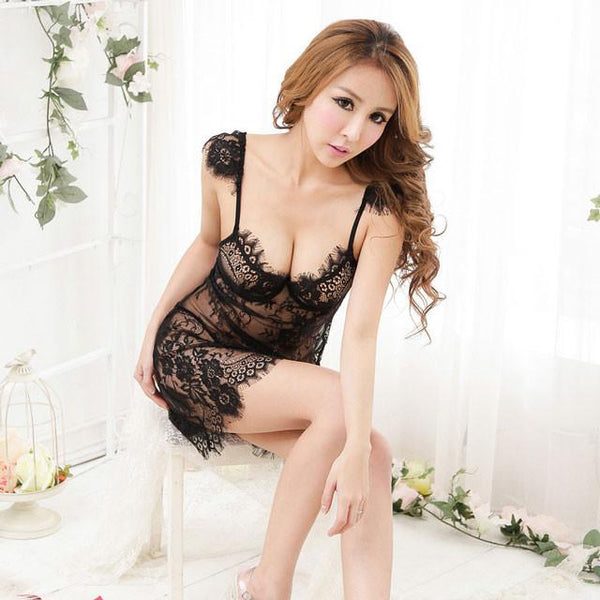 Underwear Gather Bowknow Halter G-String Set Lingerie Set For Big Sale!- Fowish.com