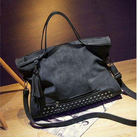 Rivets Shoulderbag Messenger Bag Handbag Motorcycle Bag For Big Sale!- Fowish.com