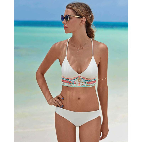 Folk Popular Bathing Suits Bikini Printing Swimsuits Bikini Set - lilyby
