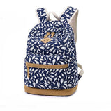 Fashion  Canvas Casual Feather Printed Backpack Schoolbag For Big Sale!- Fowish.com
