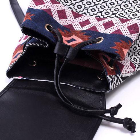 Leisure Totem Geometry Rucksack Original Irregular Printing Small Canvas Backpack For Big Sale!- Fowish.com