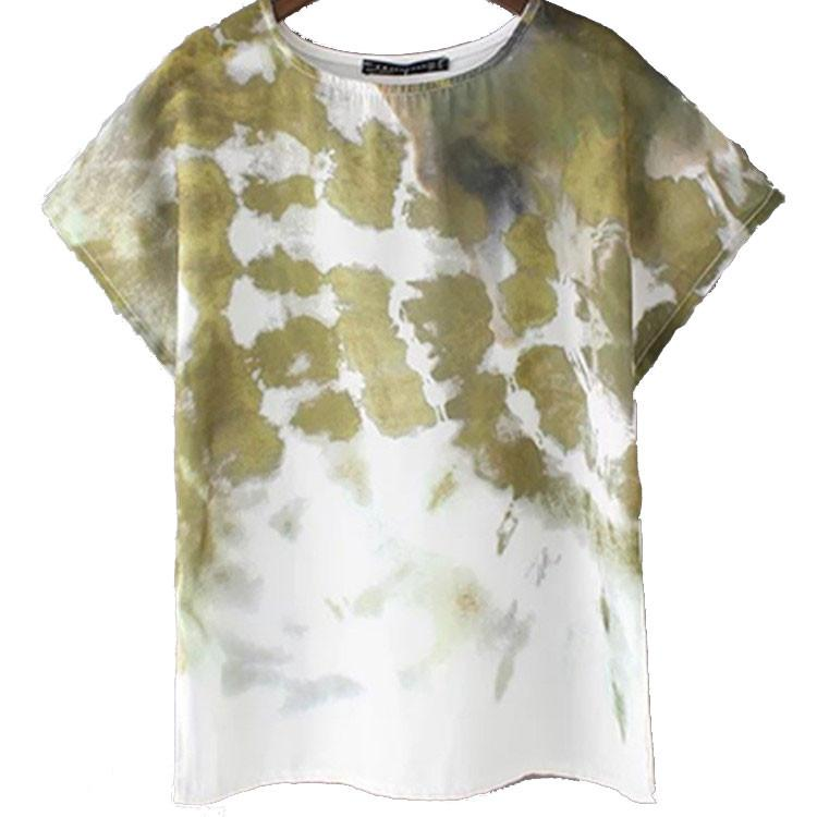 Fashion Tie-dye Printing Short-sleeved T-shirt For Women - lilyby