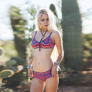 Underwater World Totem Print Swimsuit Folk Bikini Set Swimwear For Big Sale!- Fowish.com