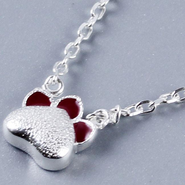 Cute Silver Kitten Necklace Red Cat Claws Kitty Pendant Necklace For Big Sale!- Fowish.com