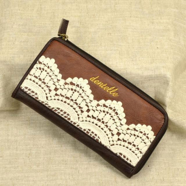 Retro Lace Handmade Leather Wallets For Big Sale!- Fowish.com