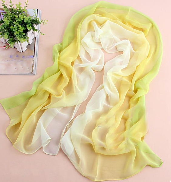 yellow fix green tie-dye gradient infinity scarf For Big Sale!- Fowish.com