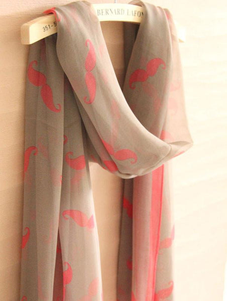 Funny Mustache Infinity Scarf - lilyby