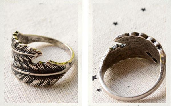 Unique Retro Feather Handmade Ring For Big Sale!- Fowish.com