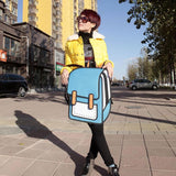 Cartoon Second Element Comic Canvas Backpack - lilyby