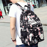 Leisure Printing School Bag Teenagers Rucksack Travel Sport Backpack For Big Sale!- Fowish.com