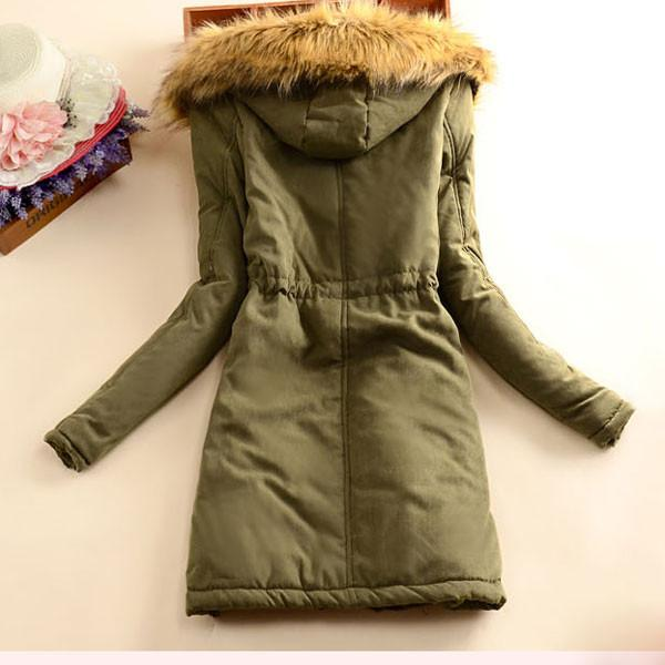 Nice Fashion Slim Wool Hooded Long Winter Cotton Coat - lilyby