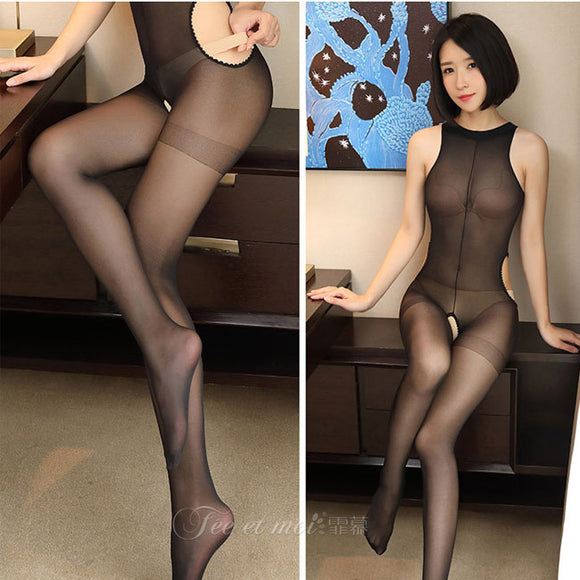 Sexy Tights Transparent Thin Temptation Conjoined Stockings Women Lingerie