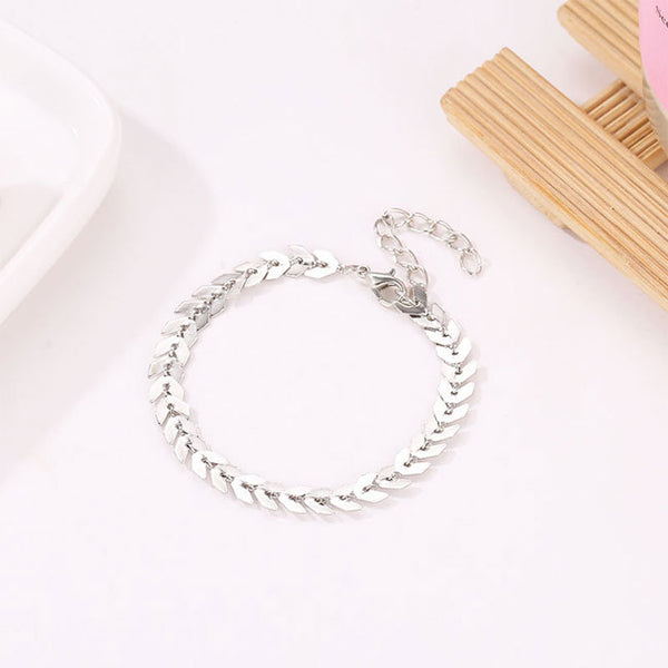 Unique Bohemia Simple Leaves Arrow Women Bracelet