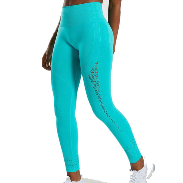Leisure Hollow High Waist Tight-Fitting Hip-lifting Seamless Yoga Pants Women's Leggings