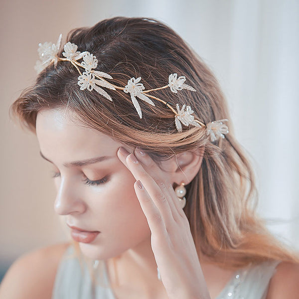 Fashion Unique Flower Branch Handmade Bridesmaid Hair Band Bride Hair Accessories