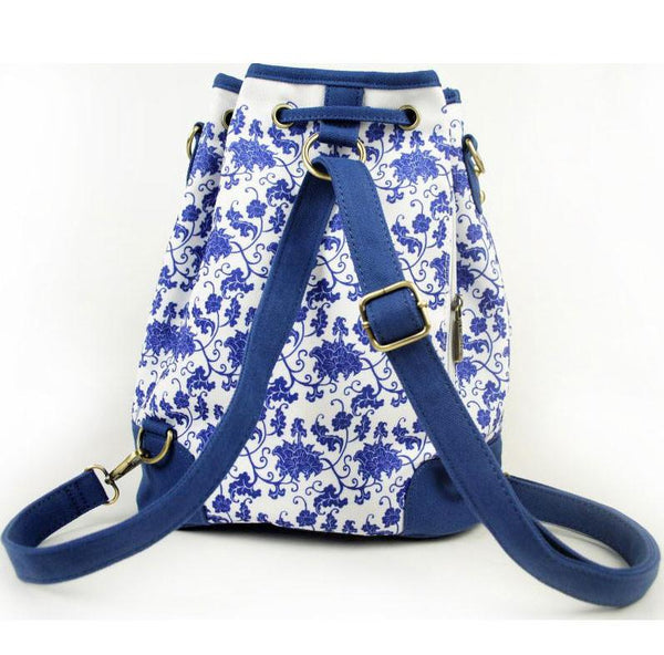 Original Blue and White Travel Bag Bucket Bag Backpack For Big Sale!- Fowish.com