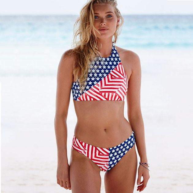 Lilyby New American Flag USA Bikini Sports Bikini Set Swimsuit Swimwear Bathingsuit - lilyby
