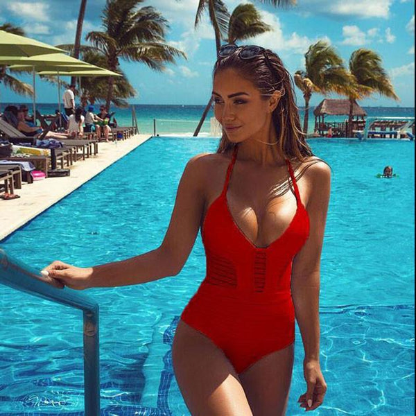 Hollow Out Bikini One-piece Swimwear For Big Sale!- Fowish.com