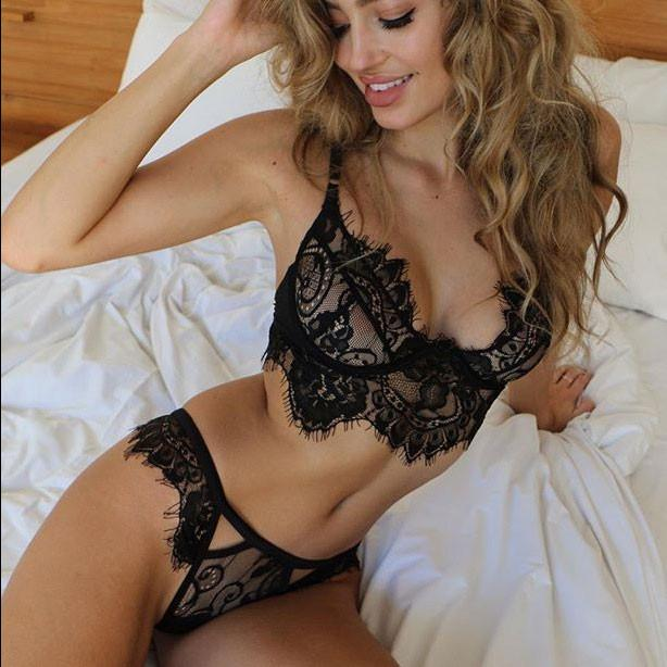 ecf24969b01 Women s Lace Halter Hollow Out Sexy Lingerie Suit Underwear For Big Sale!-  Fowish.