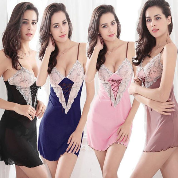 Underwear Temptation Suit Deep V Pajamas Sexy Lingerie For Big Sale!- Fowish.com