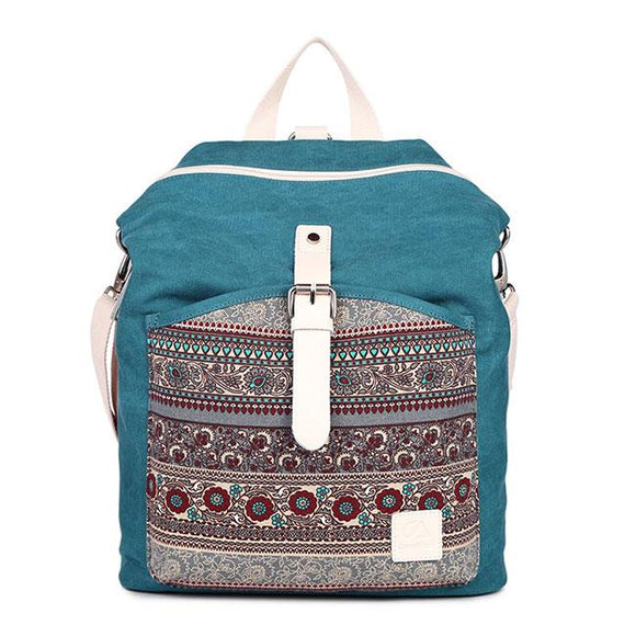 Folk Totem Women Rucksack National School Bag Ladies Canvas Backpack For Big Sale!- Fowish.com