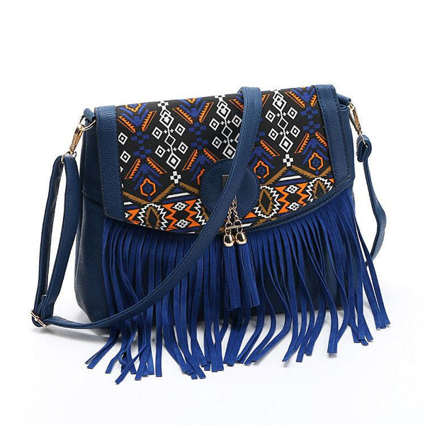 Folk Stitching Shoulder Bag Tassel Bag Messenger Bag For Big Sale!- Fowish.com