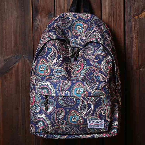 Rainbow And cashew Printed Stripes Leisure Backpack&Schoolbag For Big Sale!- Fowish.com