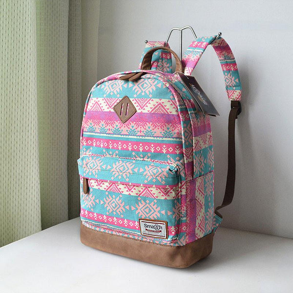 Snowflake Geometry Totem Rucksack Travel Backpack Schoolbag For Big Sale!- Fowish.com