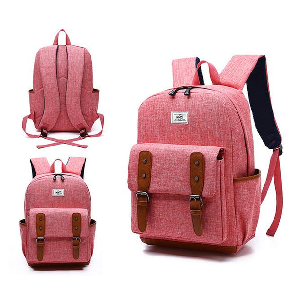 Retro Large British Backpack Students School Bags Outdoor Travel Backpack For Big Sale!- Fowish.com