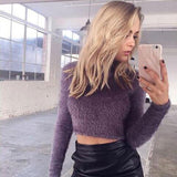 Collar Plush Long-sleeved Short Sweater 5-color For Big Sale!- Fowish.com