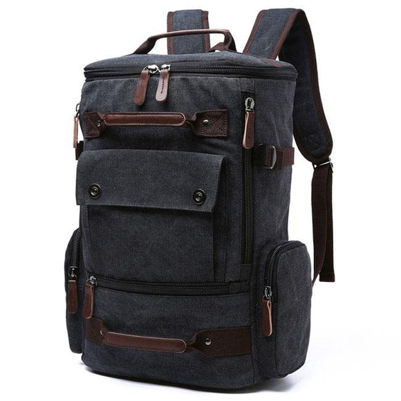 Retro Washing Color School Backpack Travel Outdoor Backpack Large Capacity  Boy s Canvas Zipper Backpack For Big cf05bfe68c950