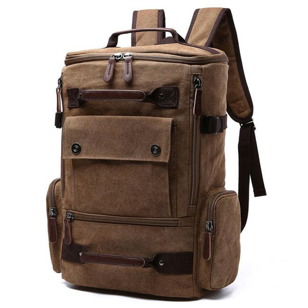 Retro Washing Color School Backpack Travel Outdoor Backpack Large Capacity Boy's Canvas Zipper Backpack For Big Sale!- Fowish.com