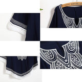 Women's Batwing Sleeves Bohemian Style Embroidery Hollowed-out Hem-line Tops For Big Sale!- Fowish.com