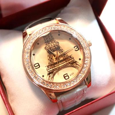 The retro rhinestone trim  Eiffel Tower Watch For Big Sale!- Fowish.com