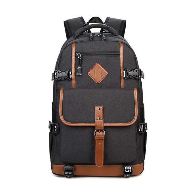 Retro Oxford Cloth Waterproof Backpack Computer Bag Large Outdoor Travel Men's Backpack For Big Sale!- Fowish.com