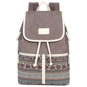 Leisure Folk College Ladies Totem Canvas Bag Student Backpack For Big Sale!- Fowish.com