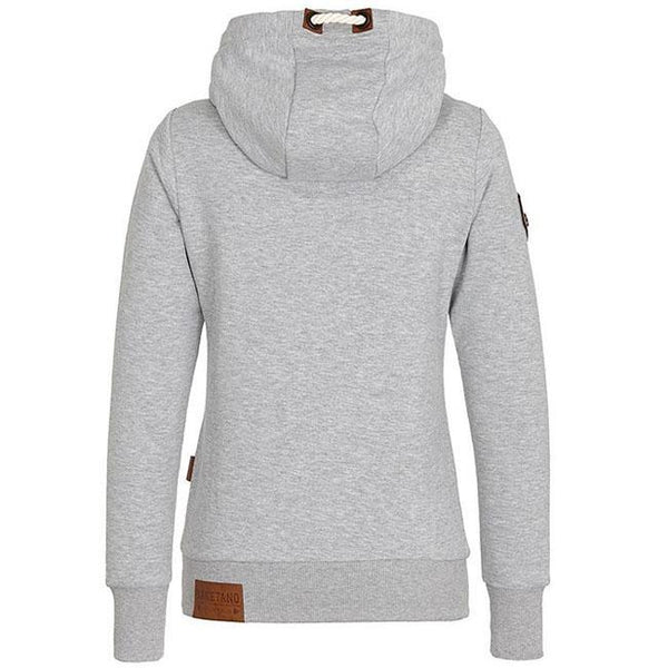 Pure Color Fall Winter Hoodie Outfit Girls Sport Cashmere Top Women Sweater For Big Sale!- Fowish.com
