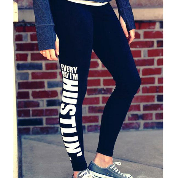 Sexy Girl's Letters Printing Yoga Sports Ninth Skinny Legging For Big Sale!- Fowish.com
