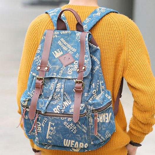 Retro Climbing Rucksack Large PU Belt Canvas School Backpack Outdoor Backpacks For Big Sale!- Fowish.com