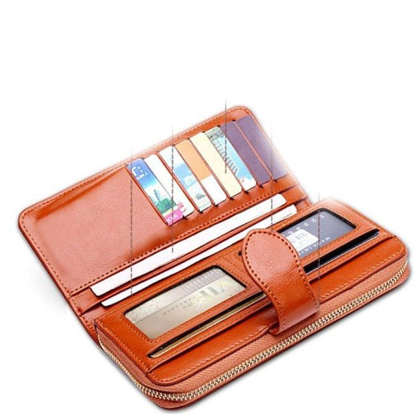 Retro Wallet Multi-function PU Leather Phone Case Clutch Bag For Big Sale!- Fowish.com