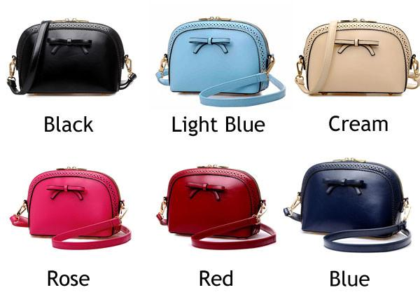 New Fashion Retro Bow Hollow Small Shell Shoulder Bags - lilyby