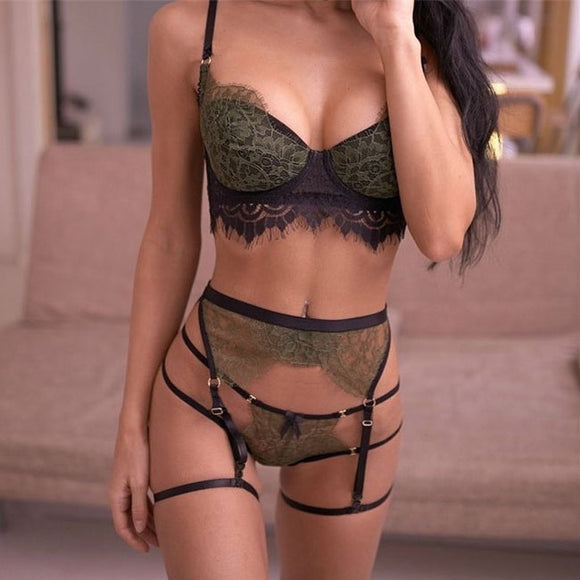 Sexy Lace Bra Set Hollow Sling Intimate Lace Women Lingerie