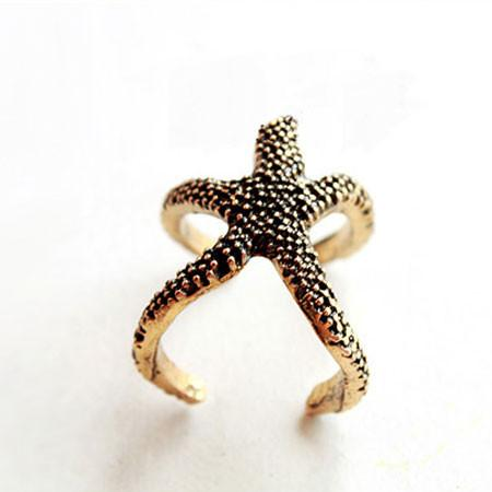 Lovely Starfish Ope Ring - lilyby