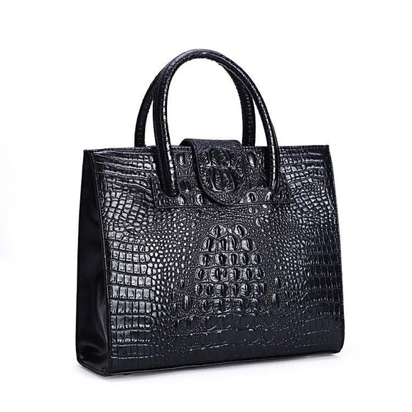 Graceful Crocodile Printed Leather Handbag &Shoulder Bag - lilyby