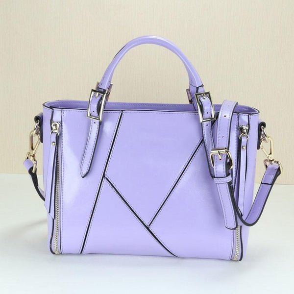 New Geometry Stitching Leather Embossed Handbag&Shoulder Bag - lilyby