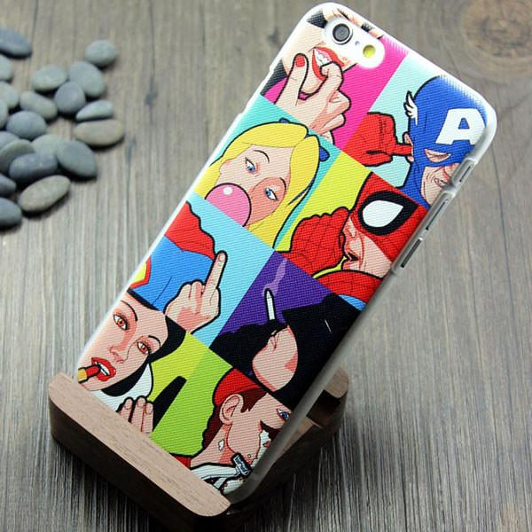 Spoof Superman Spiderman Batman Iphone5/6 Case For Big Sale!- Fowish.com